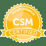 Certifed ScrumMaster (CSM) Badge